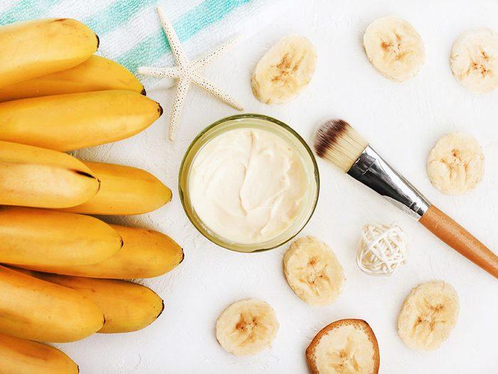 masque visage maison Banane